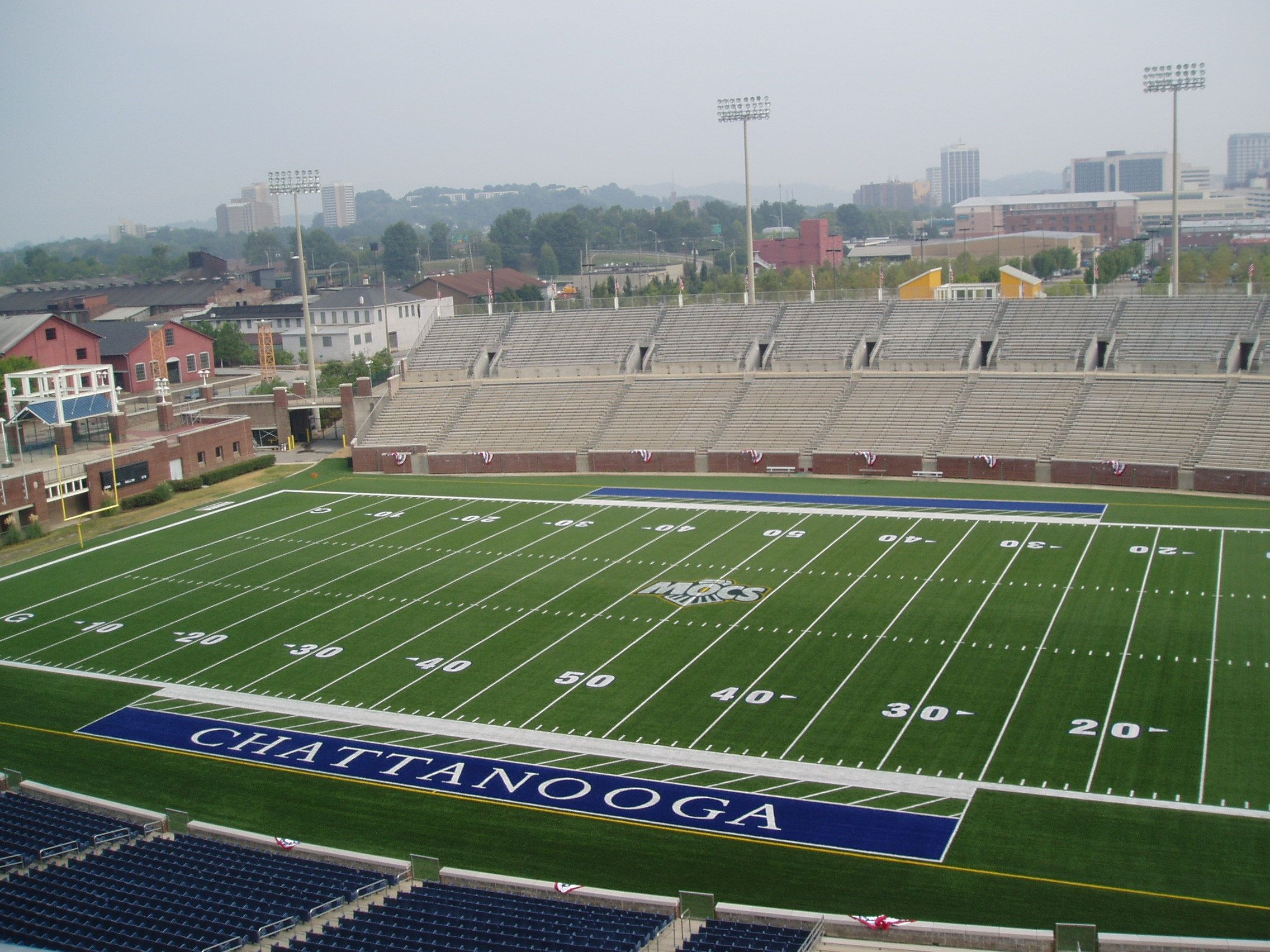 Utc Finley Stadium Chattanooga Tennessee Chattanooga University Of Tennessee