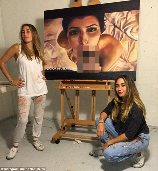 Twins Court Controversy With Paintings Inspired By Kim Ks -1831