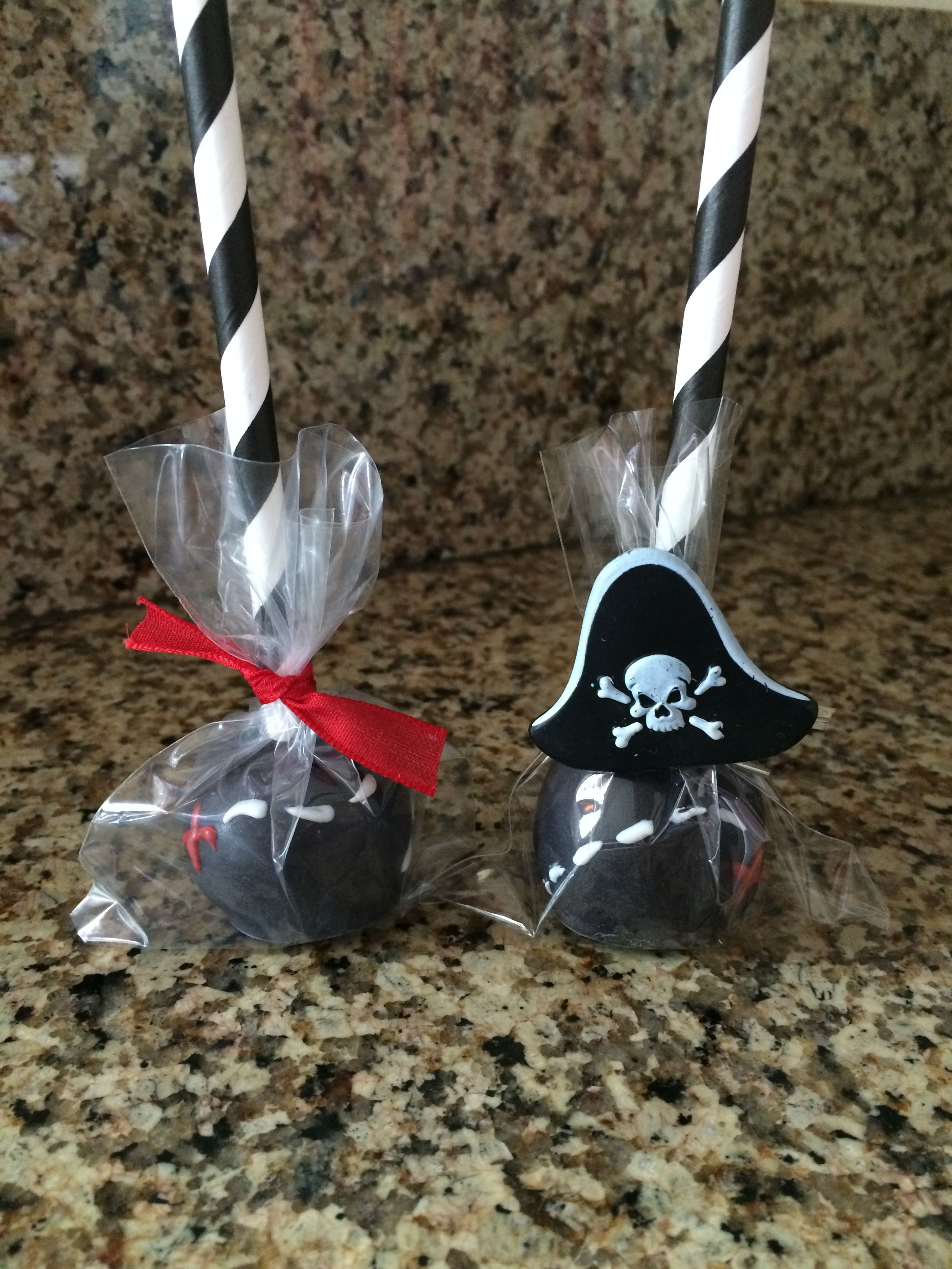 X Marks The Spot Treasure Map Cake Pops