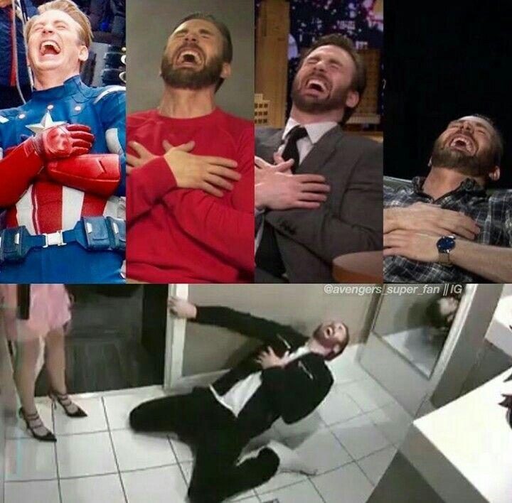 Chris Evans hysterical laugh levels