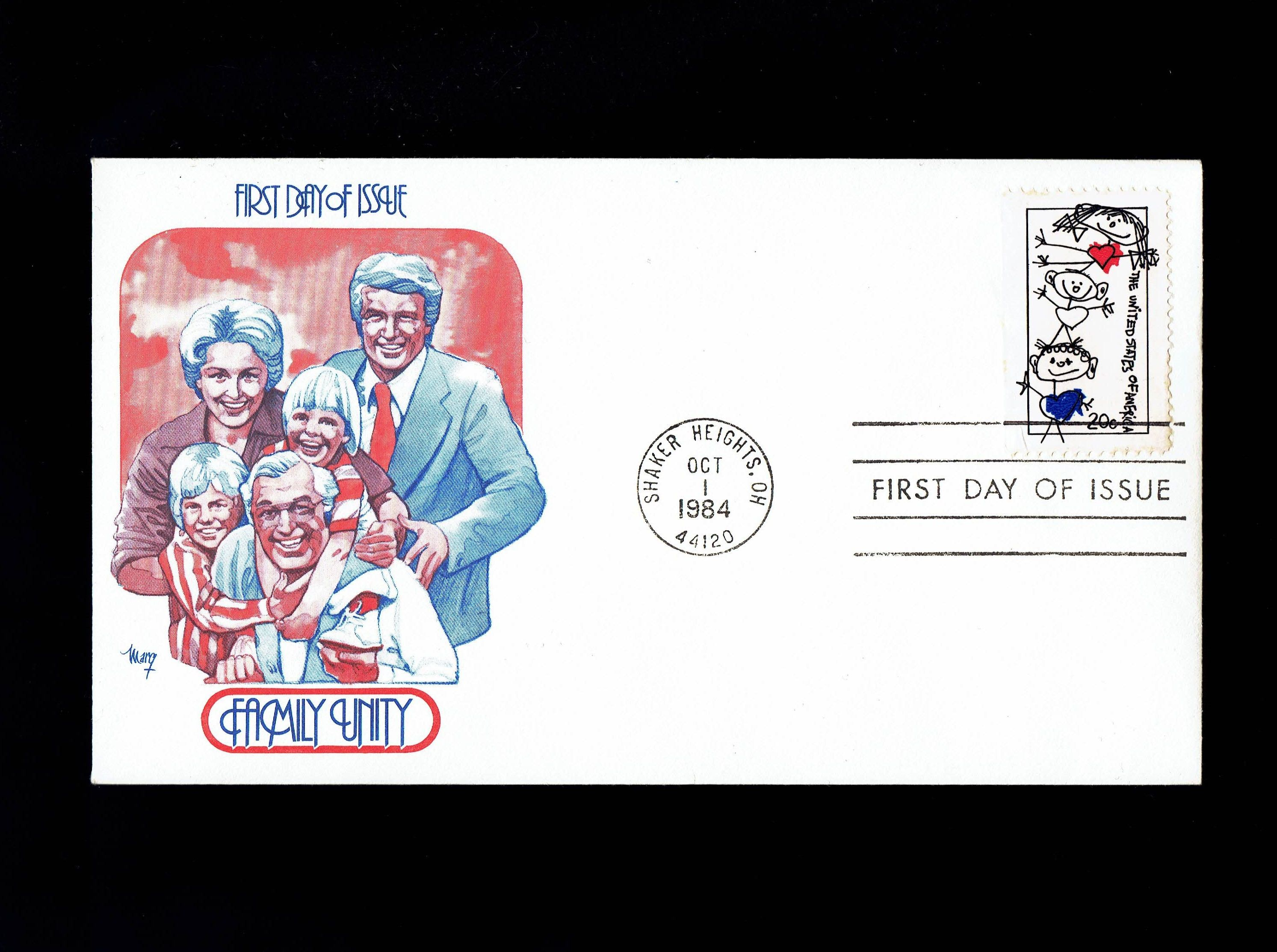 US Family Unity Oct Shaker Heights OH First Day Cover
