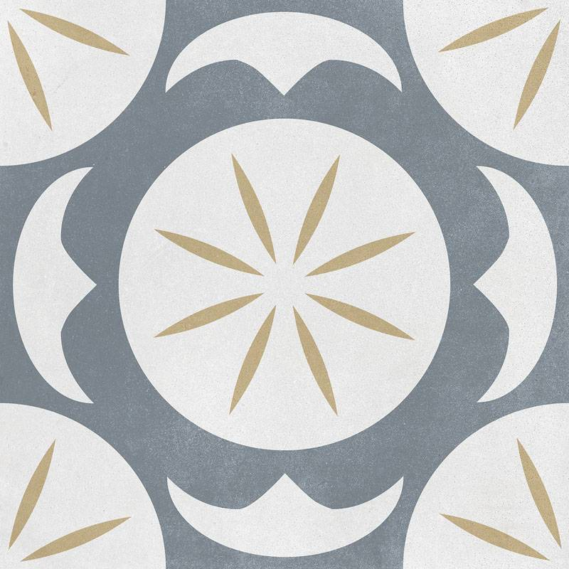 Carrelage Imitation Carreau De Ciment Decor Gris Et Jaune