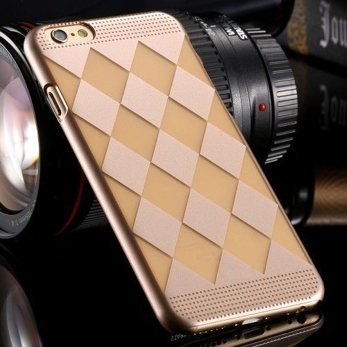 Affordable Ultra Light Slim Back Case For iphone6 4.7 Luxury Gold Thin Back Cover For Apple iPhone 6 4.7 Simple Case for i6 YXF04977