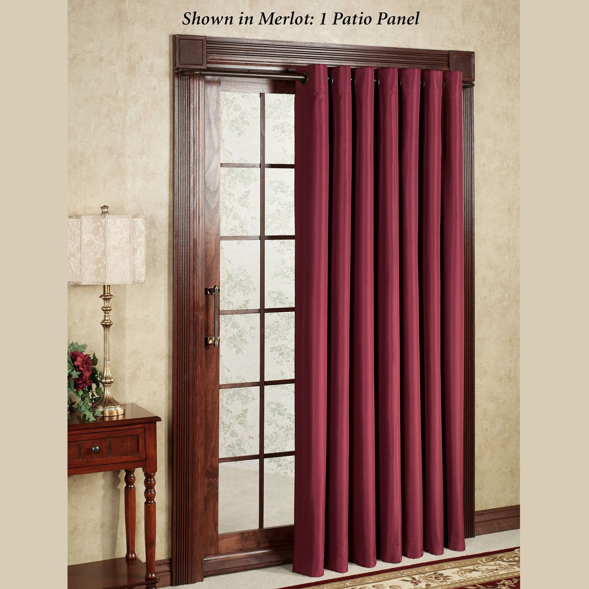 Thermal Backed Patio Door Curtains