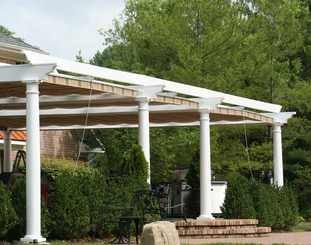 Retractable canopy for pergola - Waterproof Rope Retractable Canopy Waterproof Rope Retractable Canopy Shown