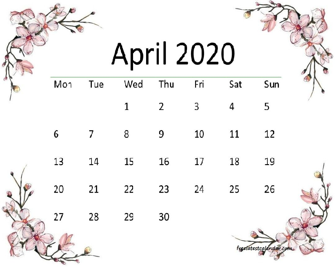 53 Best April Calendars Images In 2020 Calendar Calendar