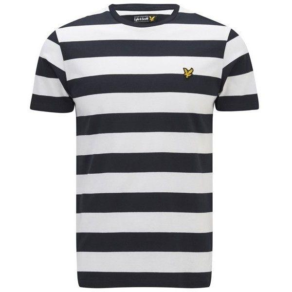 e0379815c Lyle & Scott Vintage Men's Block Stripe T-Shirt - New Navy (165 VEF) ❤  liked on Polyvore featuring men's fashion, men's clothing, men's shirts,  men's ...