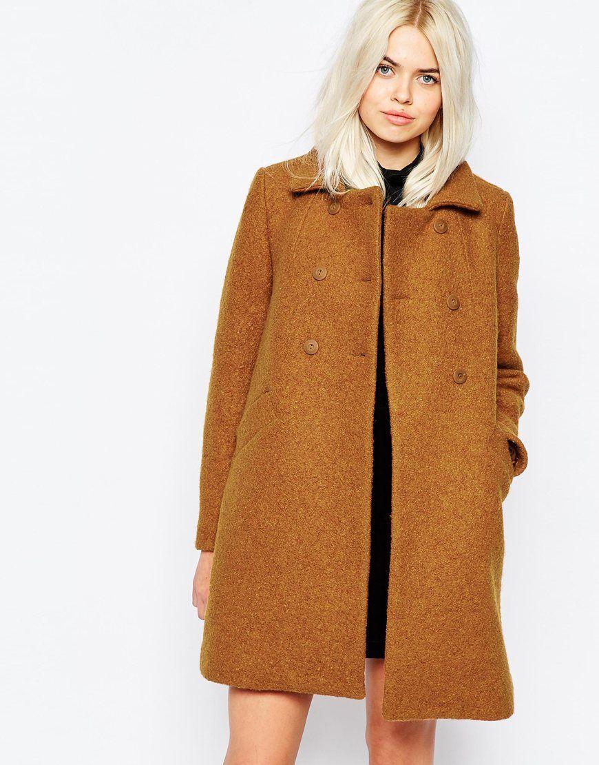 Coat Monki 60er – Im Stil JahreCamel Mantel Schwingender Der 4LSc3Aj5Rq