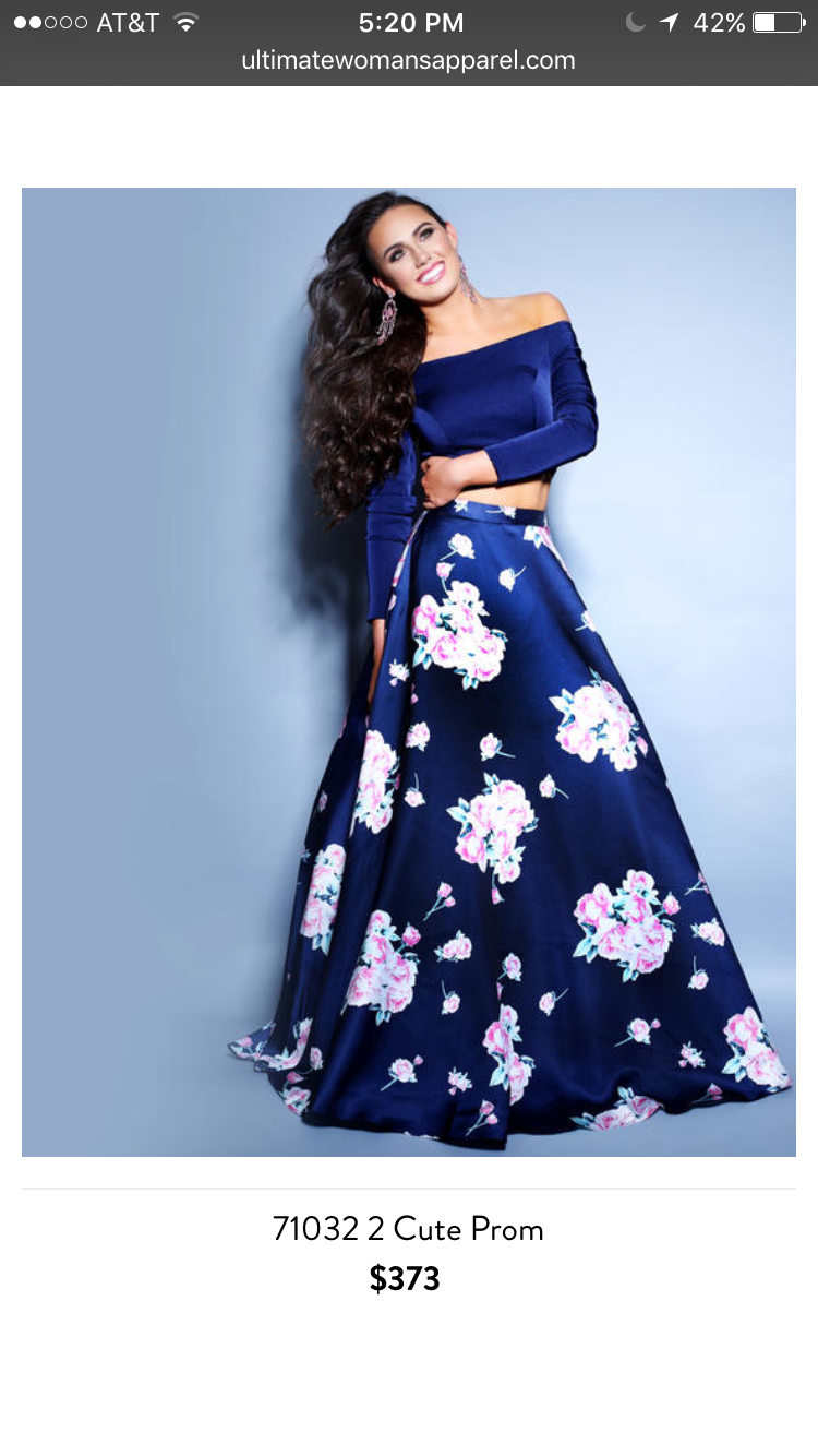 Long sleeve off the shoulder navy dark blue long prom dress floral ...