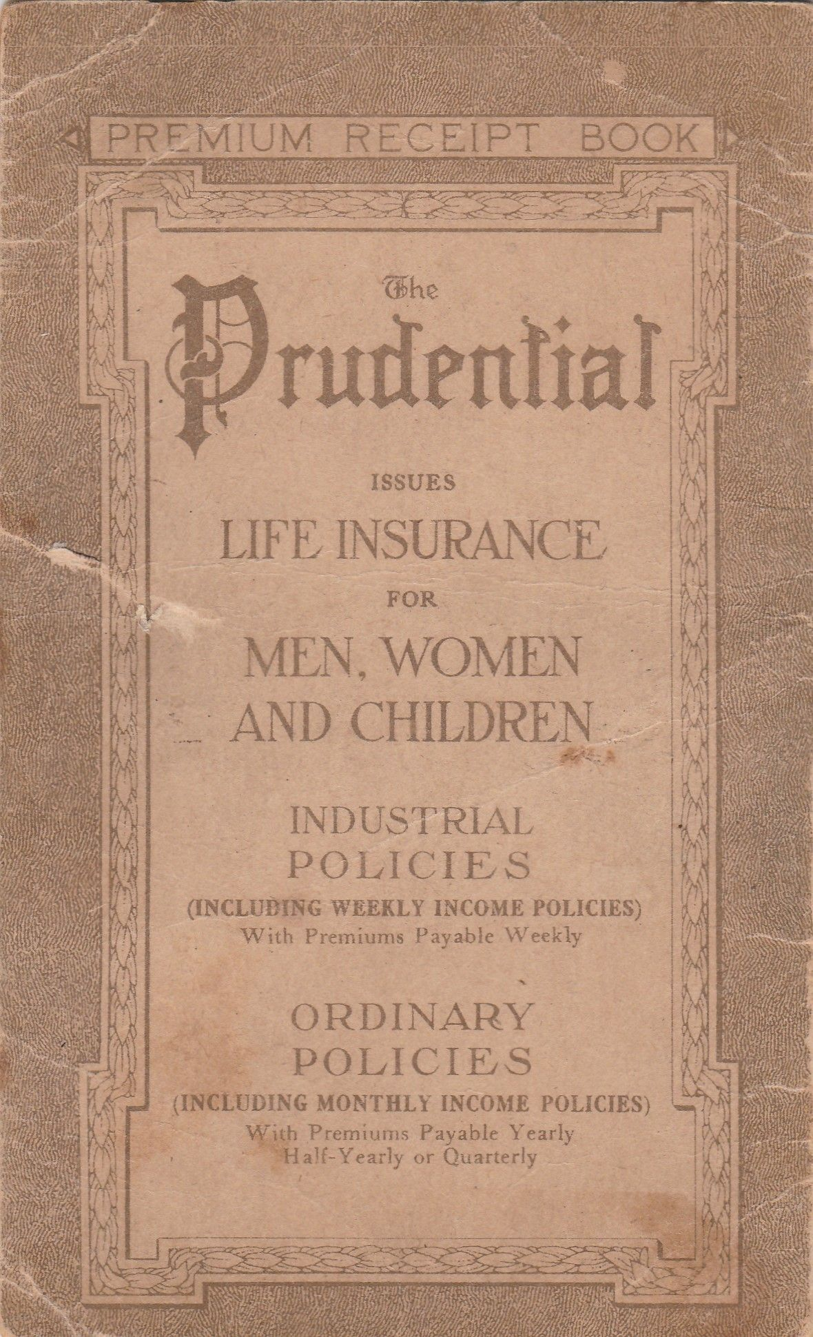 1923 The Prudential Insurance Company Of America Book Insurance