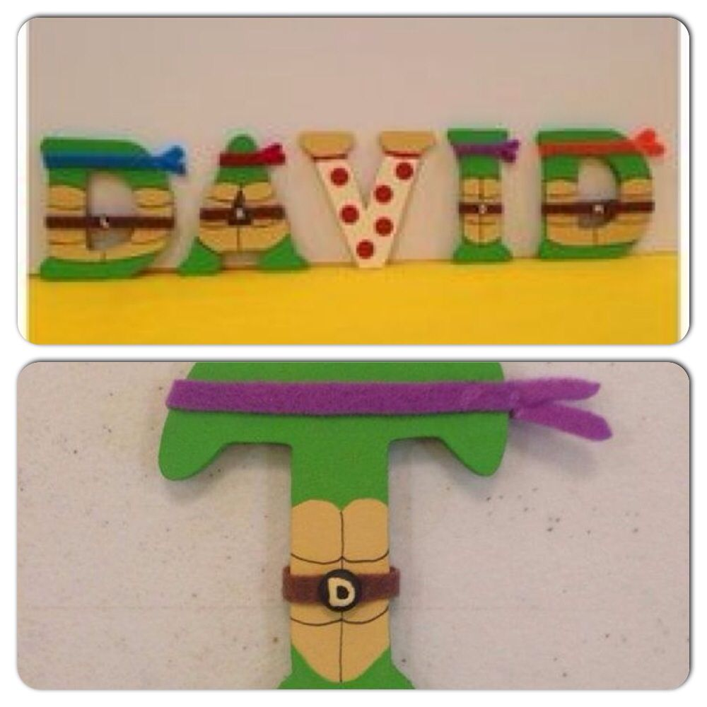 tmnt wooden letters