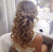 Photo of half up half down hair #haar #hair Hochzeitsfrisur – Claire C. – Frisur Hochzeit…