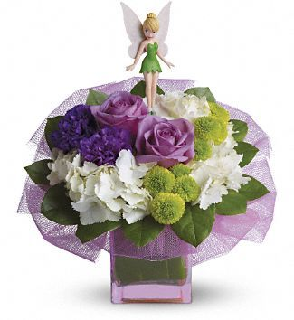 I don't know if Emily will be into Tinkerbell all her life, but if she is I'm going to make this for her wedding day.