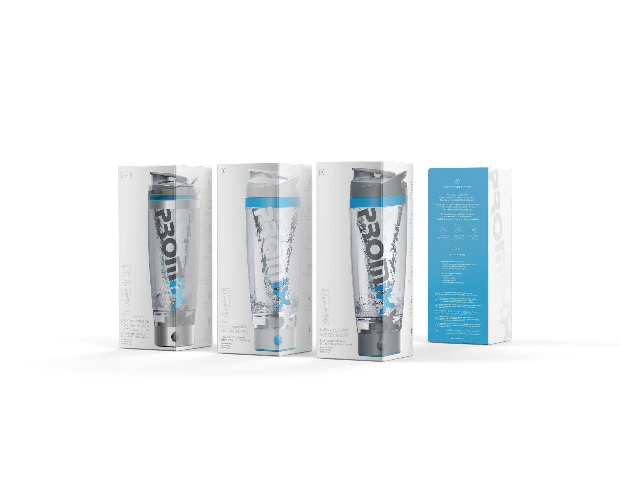 Botella mezcladora PROMiXX Vortex, Mezclador Vortex, Botella