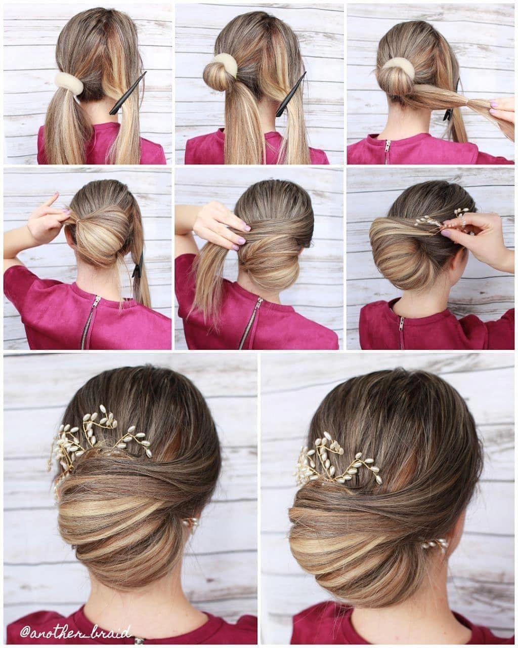 "HAIRFY Hair Tutorials on Instagram: ""Quick & simple Updo tutorial"