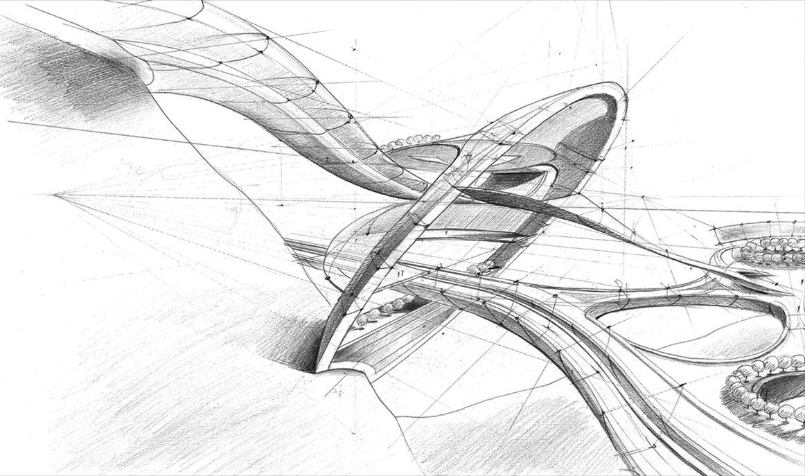 Architectural Sketches Architectural Sketch By Mihaio