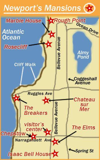 Newport RI Bellevue Ave Mansions--- | Biltmore & Vanderbilt ... on westerly ri map, newport rhode island map, charlestown ri map, newport wales map, burlingame campground map, newport mansions christmas, rhode island road map, newport ct map, wallingford ct map, newport rough point, newport mansions cliff walk and map, charlestown breachway campground map, newport views, nantucket beaches map, hudson valley mansions map, newport walkway, newport mansions rockefeller, newport mansions interiors,