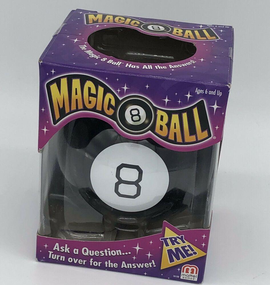 Mattel games magic 8 ball black fortune teller ask