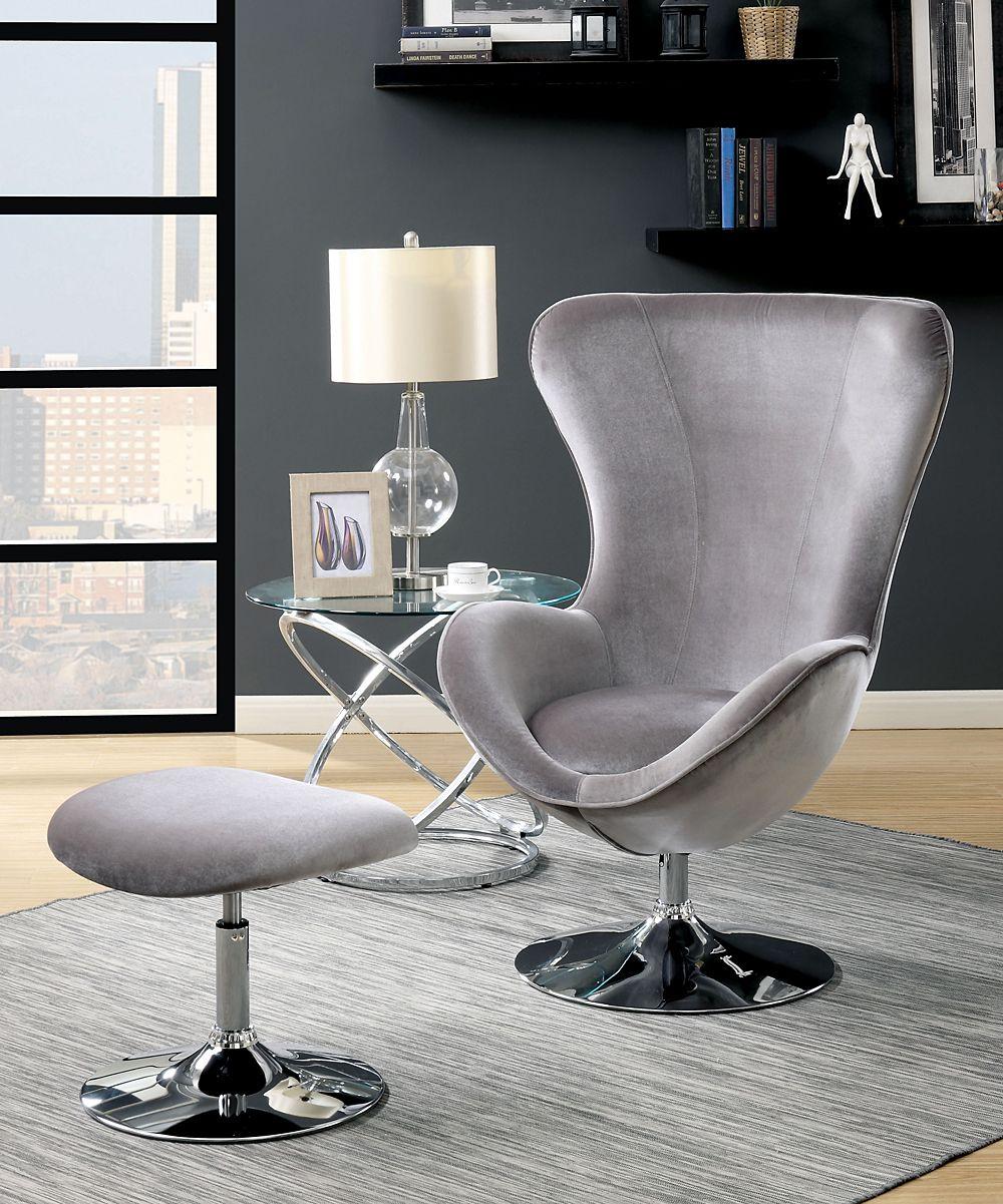 Fabulous Serendipity Gray Seras Flannelette Chair Ottoman Set Creativecarmelina Interior Chair Design Creativecarmelinacom