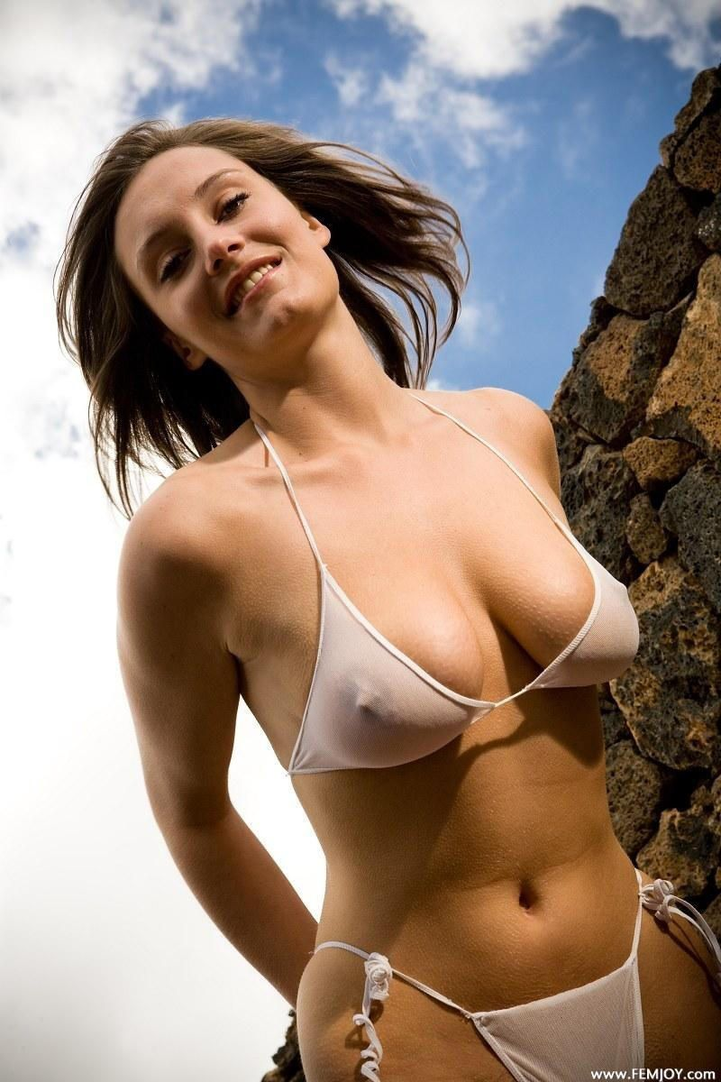 Bikini bra nipple shirt