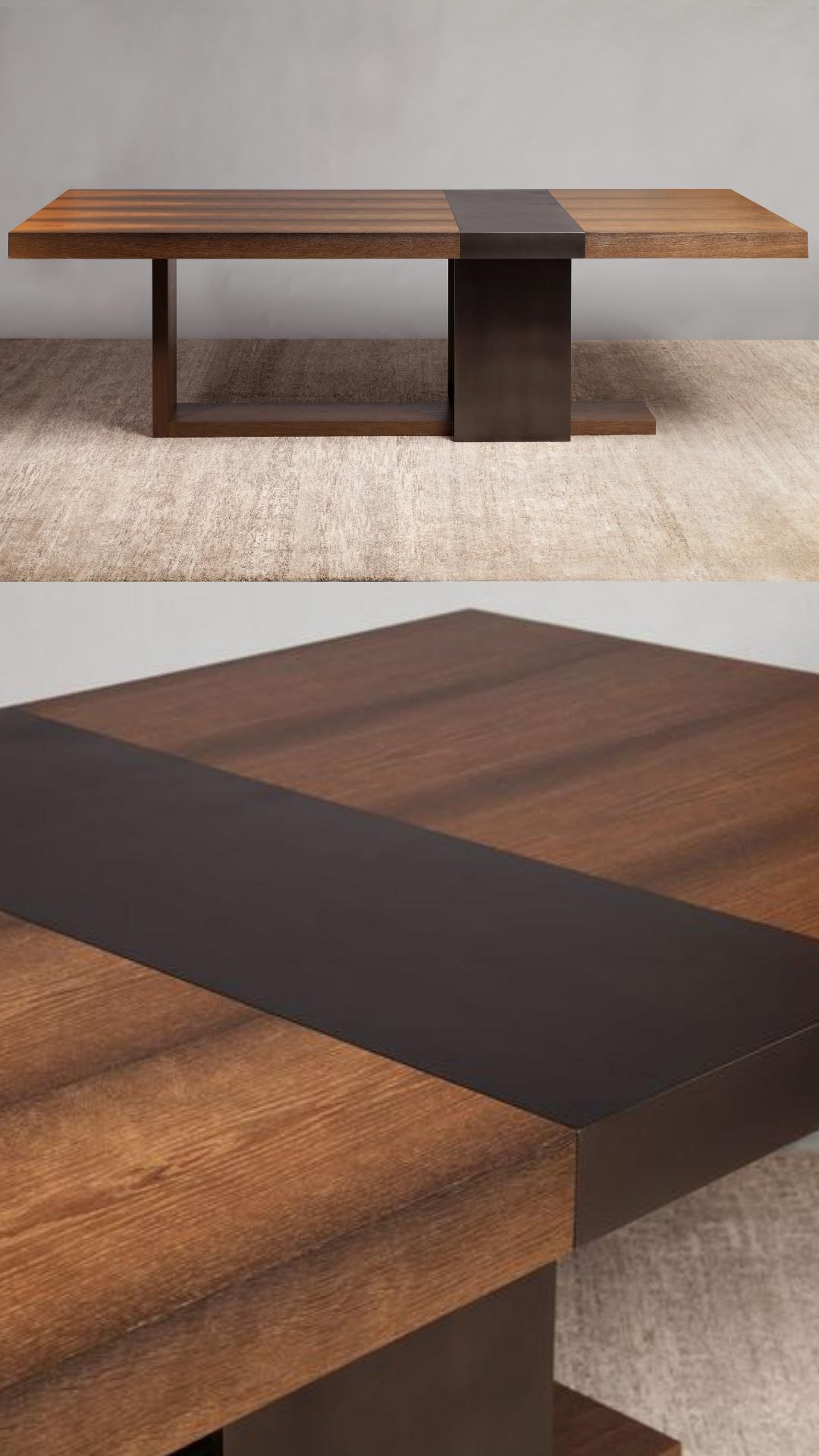 Seattle S Luma Design Workshop S Strap Dining Table Wood Table Design Furniture Design Modern Office Decor