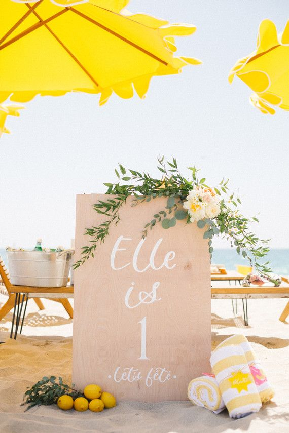 Italian Riviera Beach Party 1st Birthday With Images Beach