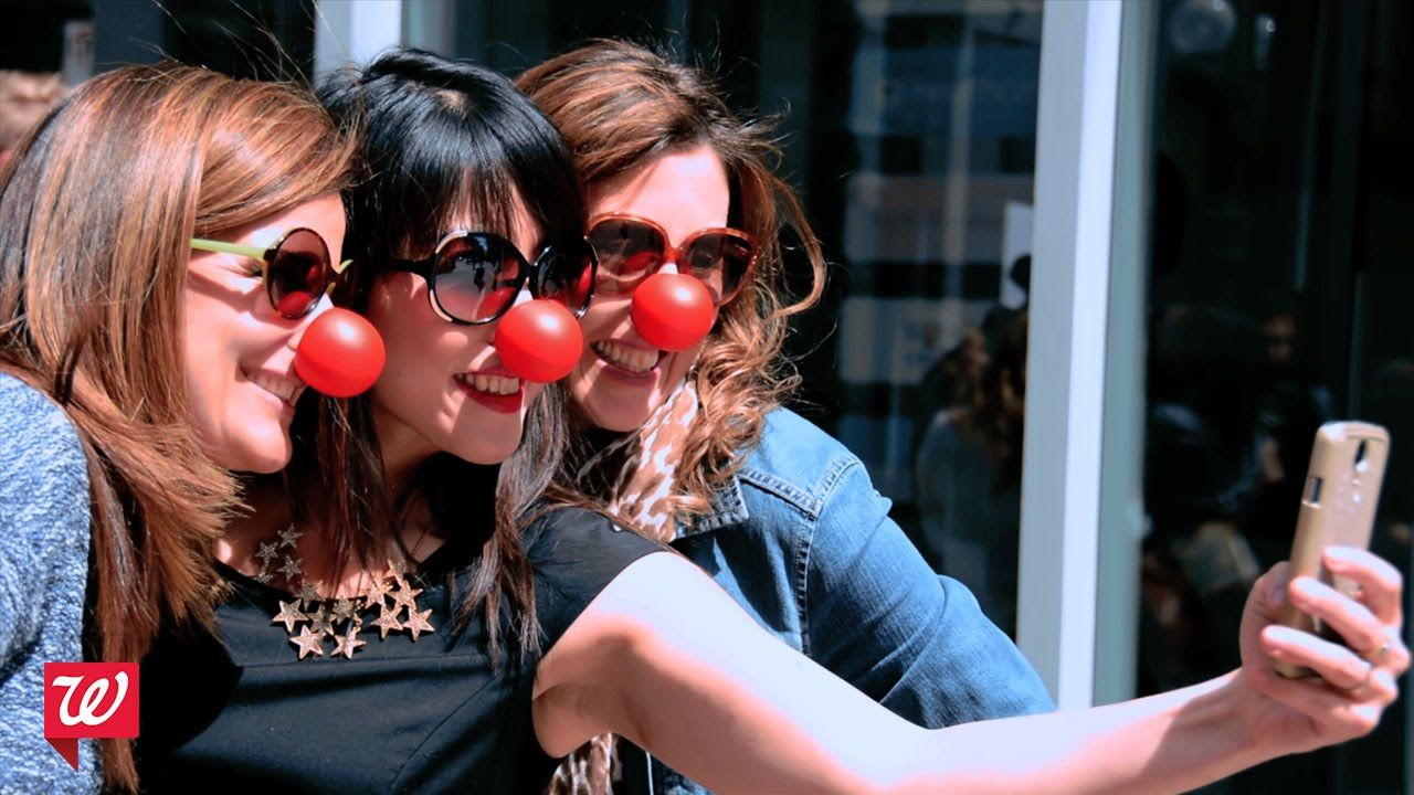 Influencers creating rednose day awareness red nose day usa
