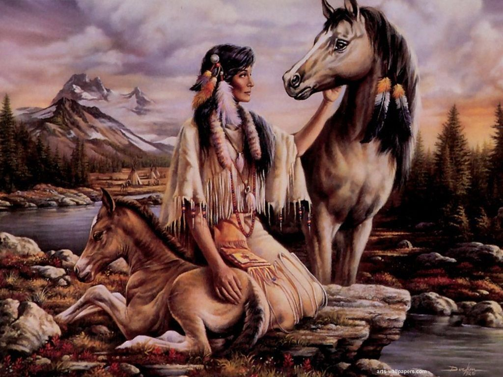 Because of their very larger than life persona, they make wonderful subjects of paintings. Look at these Native American paintings and art illustrations.