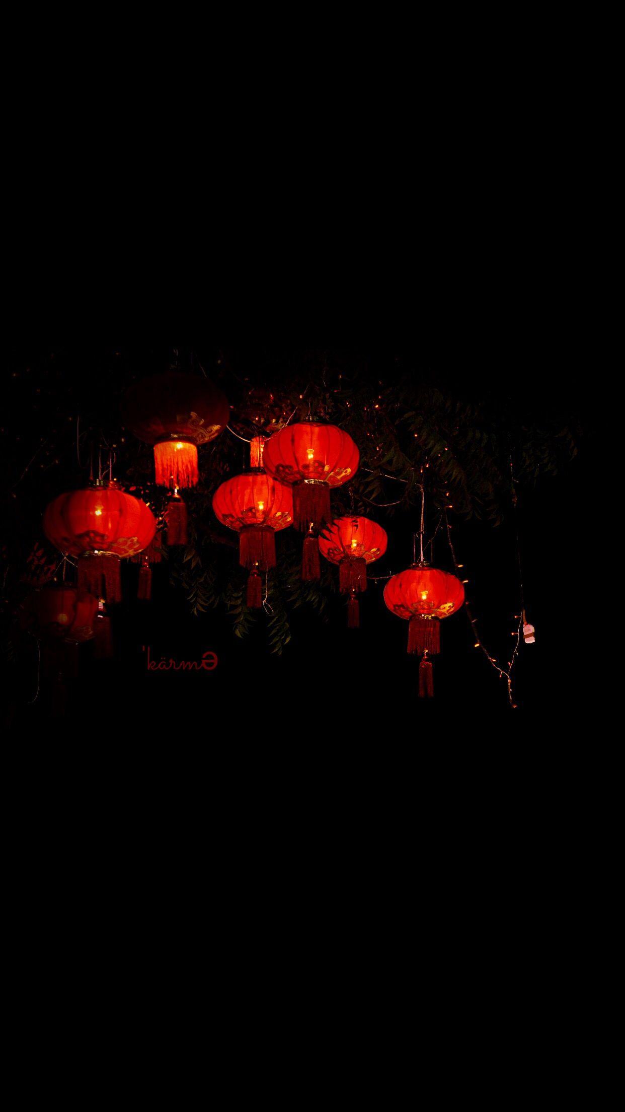 Red Lanterns Chinese Karma Logo Apple Wallpaper Iphone Clean Black Ios Minimal Iphone 7 Iphone 6 Iph Chinese Wallpaper Iphone Wallpaper Wallpaper