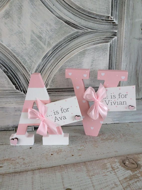 this beautiful wooden name letter offers a beautiful touch to any childs room or nursery incredibly versatile this name letter can be given to girls and