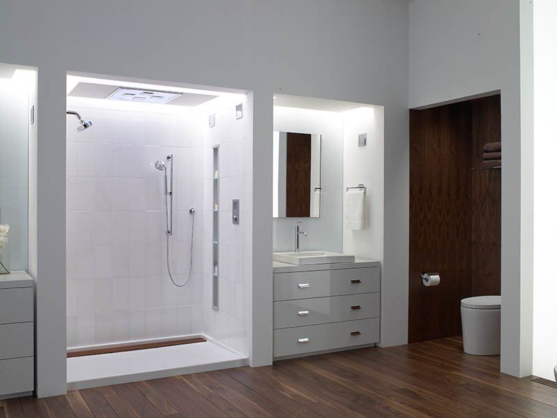 kohler groove shower base