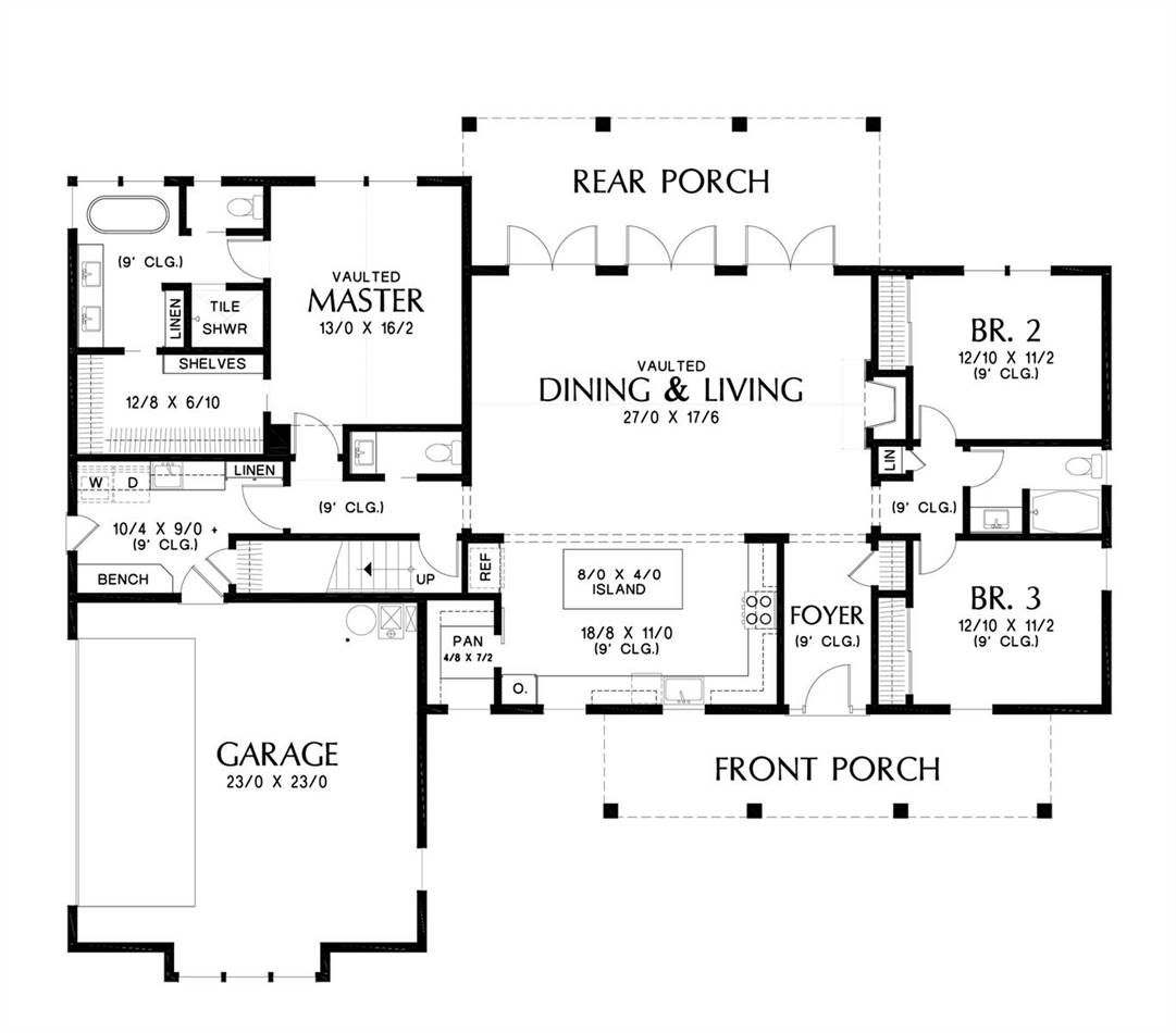 Exclusive Craftsman Style House Plan 7229 Green Hills Farmhouse Style House Plans Farmhouse Floor Plans House Plans Farmhouse