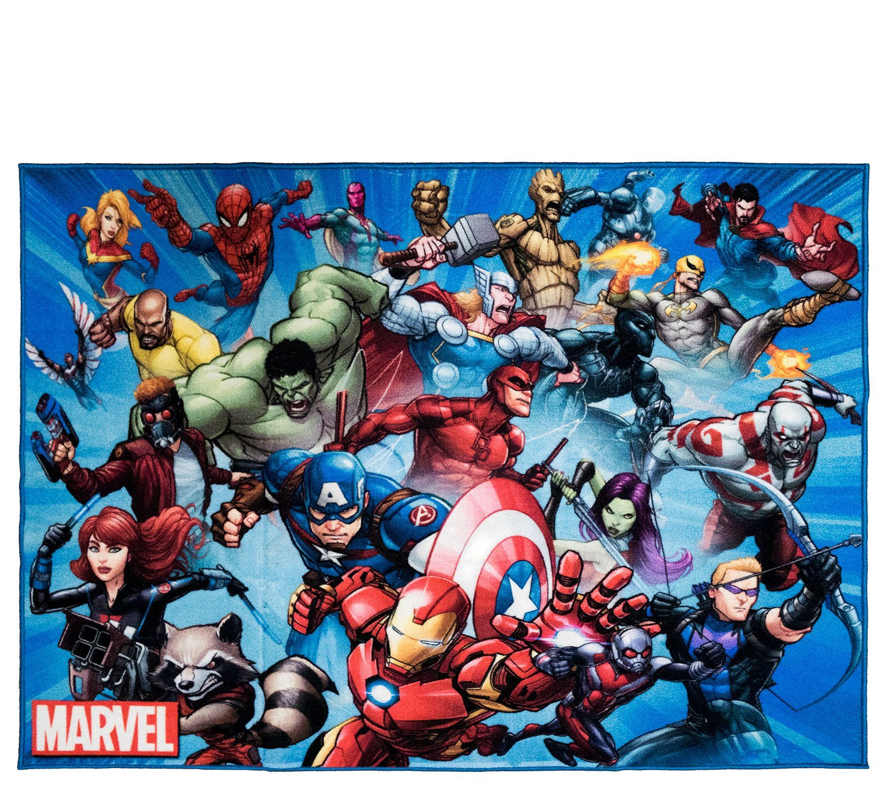 Avengers Group 4 6 X 6 6 Area Rug Qvc Com Superhero Bedding Avengers Comics Avengers Fan Art