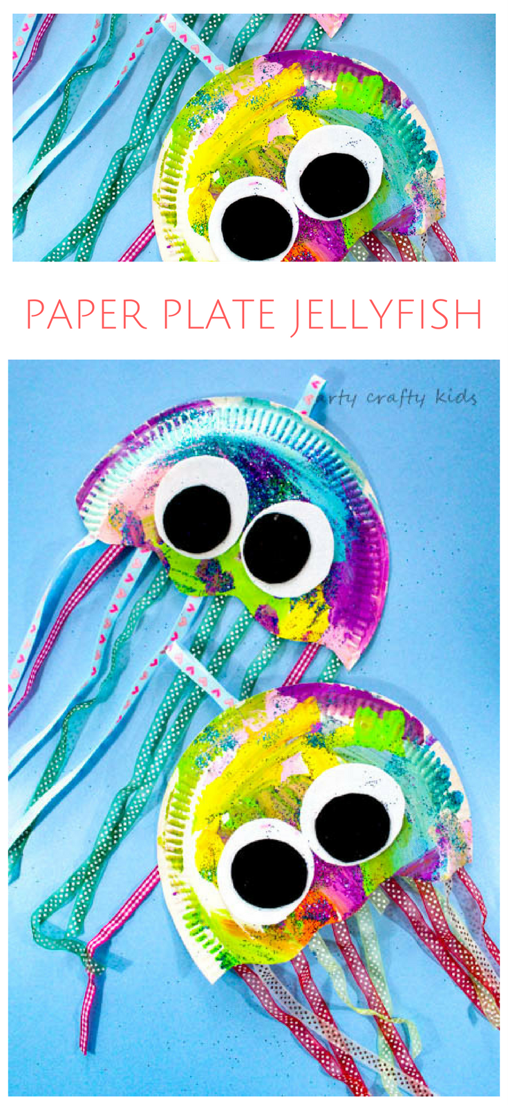 paper plate jellyfish craft paper plate jellyfish crafty kids