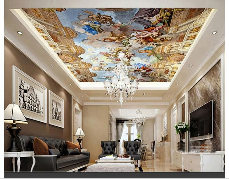 personnalis 3d photo papier peint 3d plafond peintures murales de papier peint d co. Black Bedroom Furniture Sets. Home Design Ideas