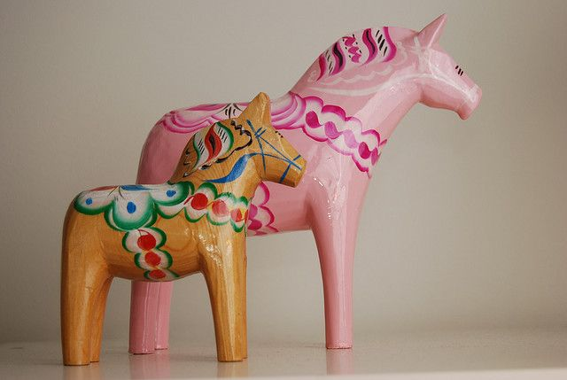 Dala horses by rubbad, via Flickr