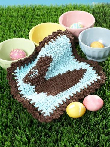 Chocolate Bunny Dishcloth   Yarn   Free Knitting Patterns   Crochet ...