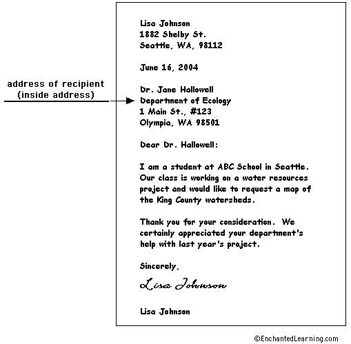 business letter attention line english first meeting