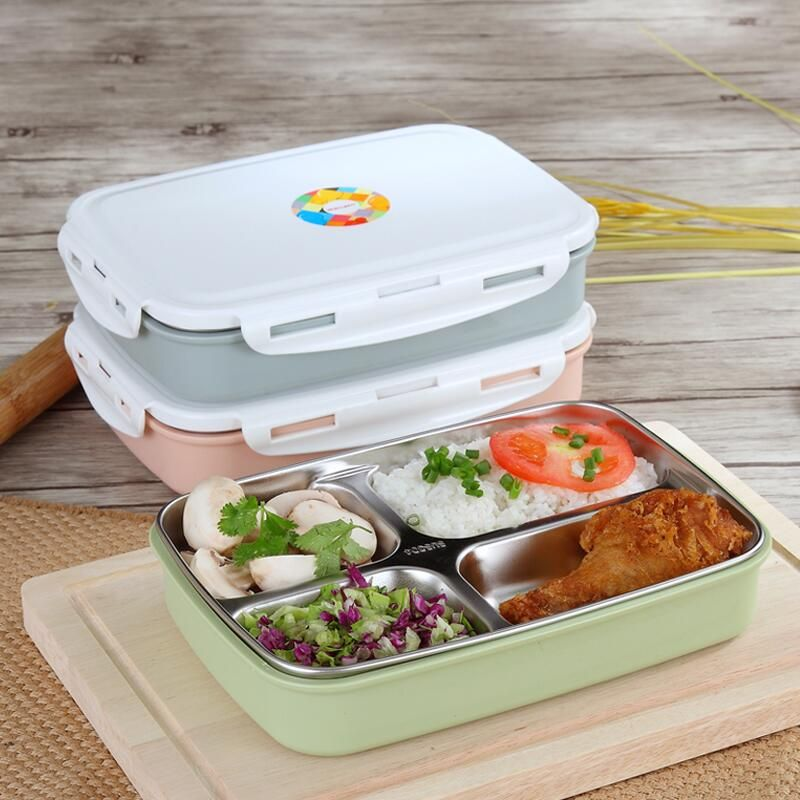 Acier Inoxydable Thermal Bento insluted Lunch Box Food Récipient Avec Compartiment