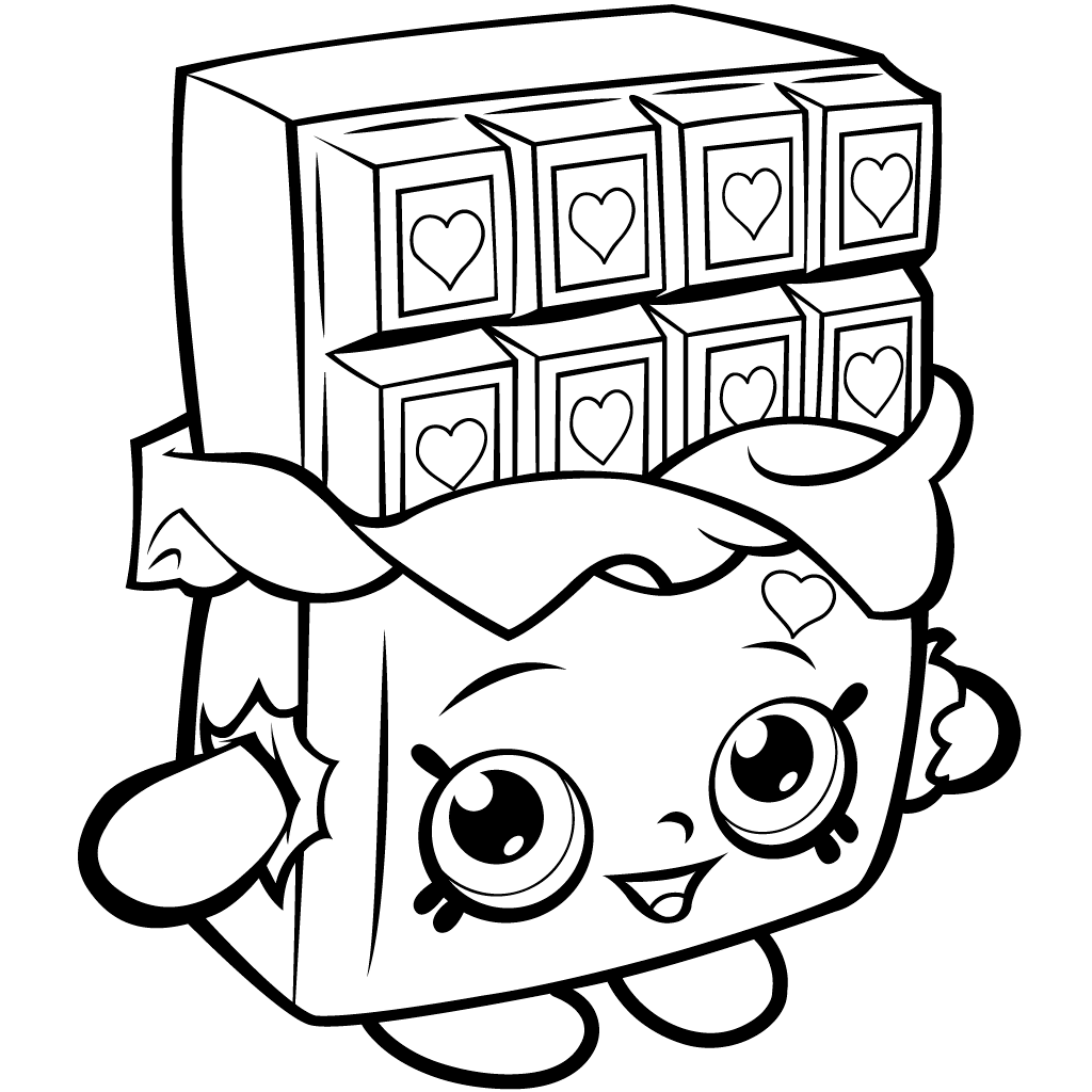 Shopkins Season 1 Cheeky Chocolate Coloring Page | Shopkin ...
