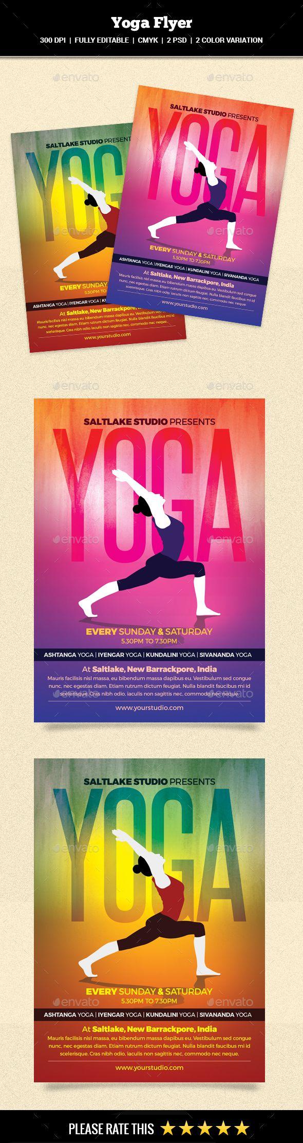 Großartig Yoga Flyer Vorlage Kostenlos Fotos - Beispiel Business ...