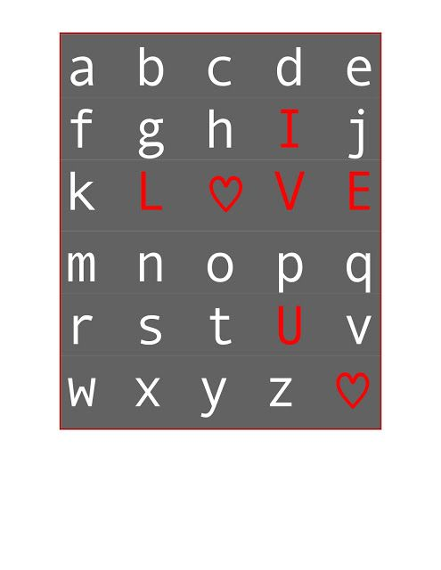 ABC Chart Printable {for Valentine's Day} #printable #valentine