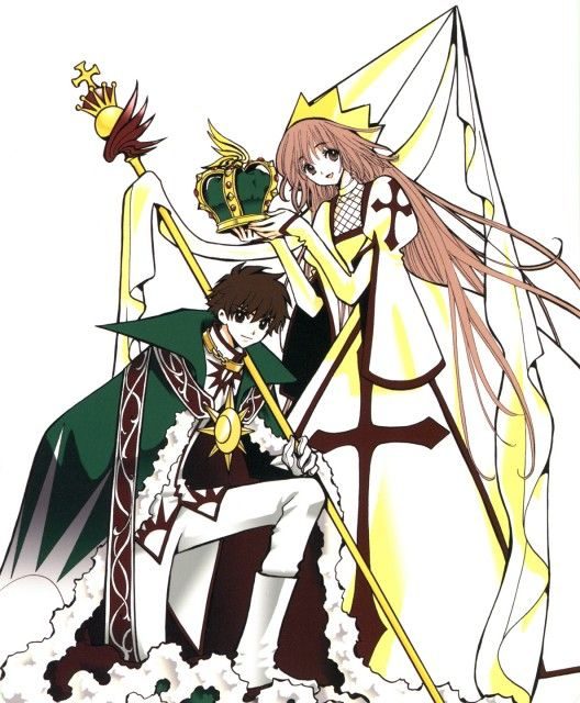 Crossovers King And Queen: Syaoran (white King) And Kobato (white Bishop) From CLAMP