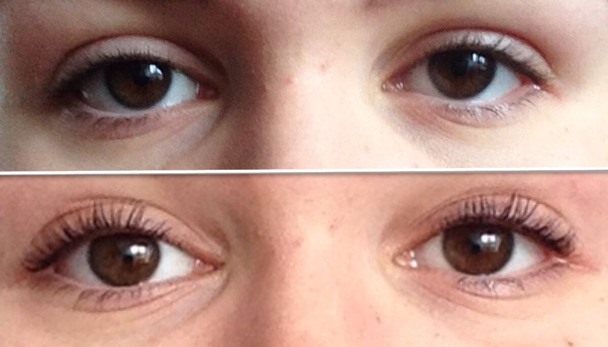 Before And After Eyelash Perm And Tint Makeup Pinterest