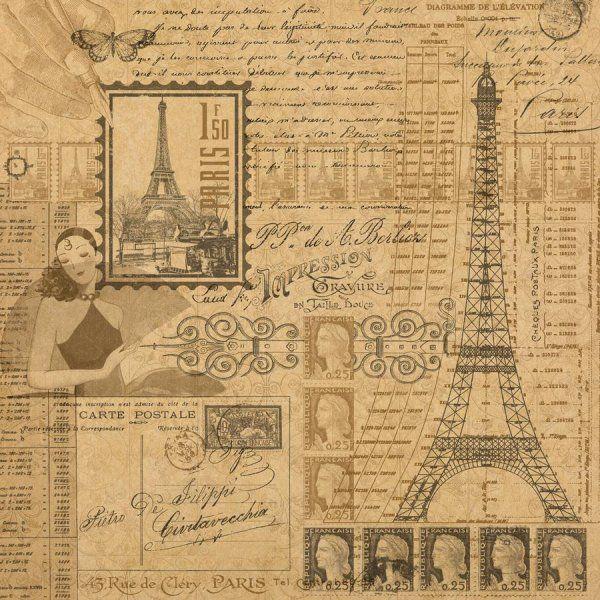 Scrapbook Paper Images Scrapbook Paper Vintage Paris One Side