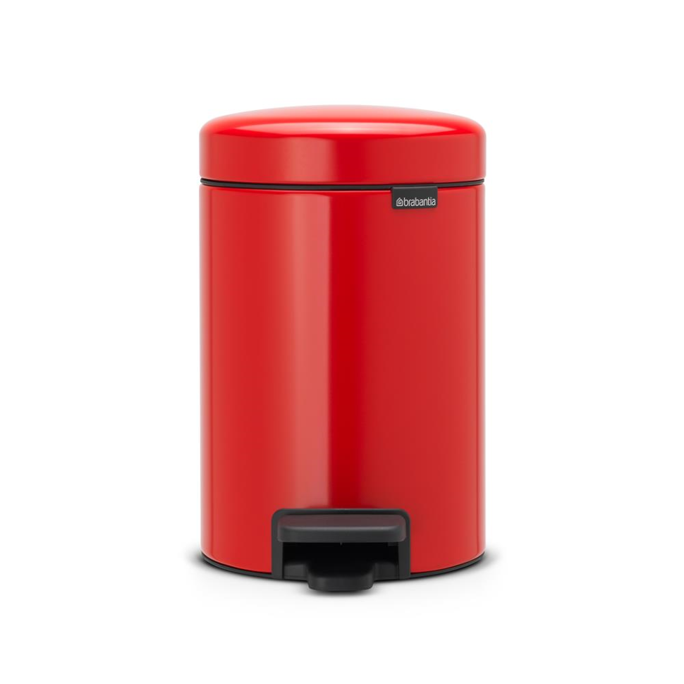 Brabantia Pedaalemmer 29 Liter.New Icon Pedalspand 3 Liter Passion Red Rod Bathroom Bathroom