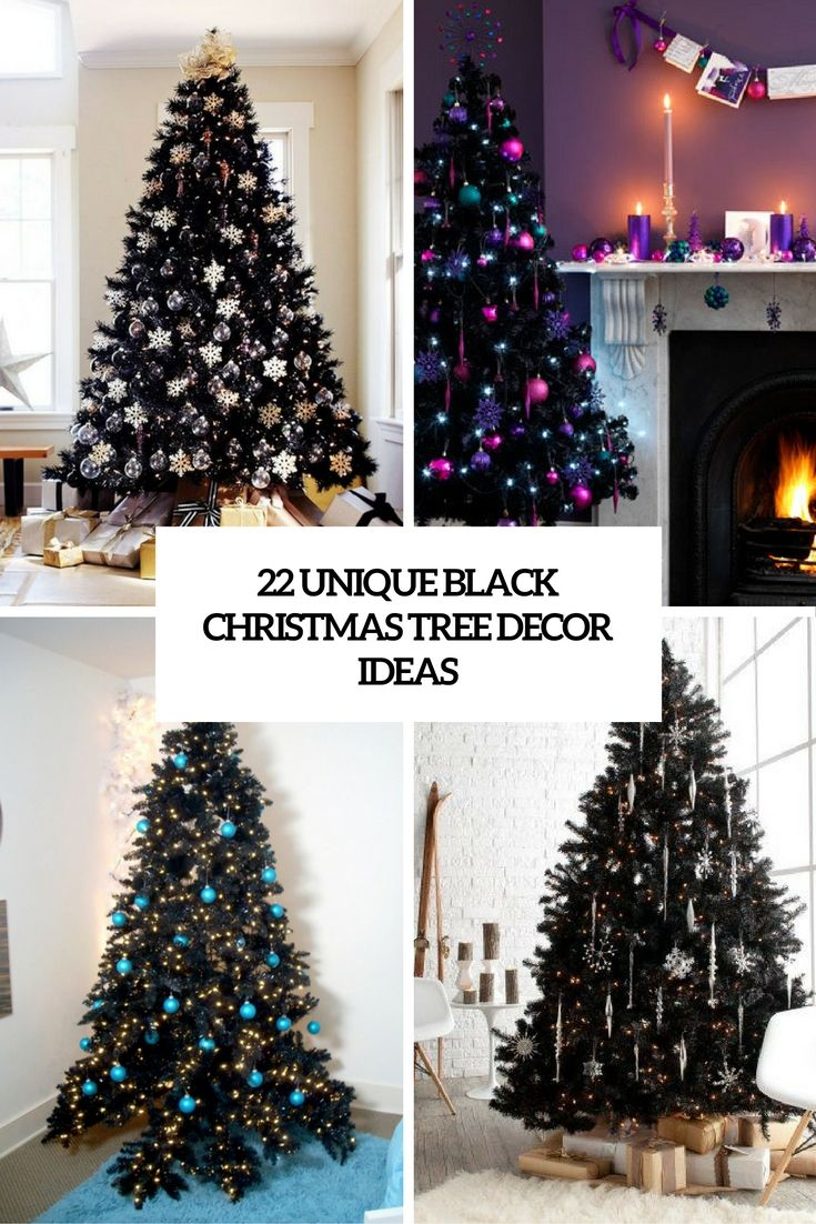 black christmas tree decor ideas cover | CHRISTMAS DECOR | Pinterest ...
