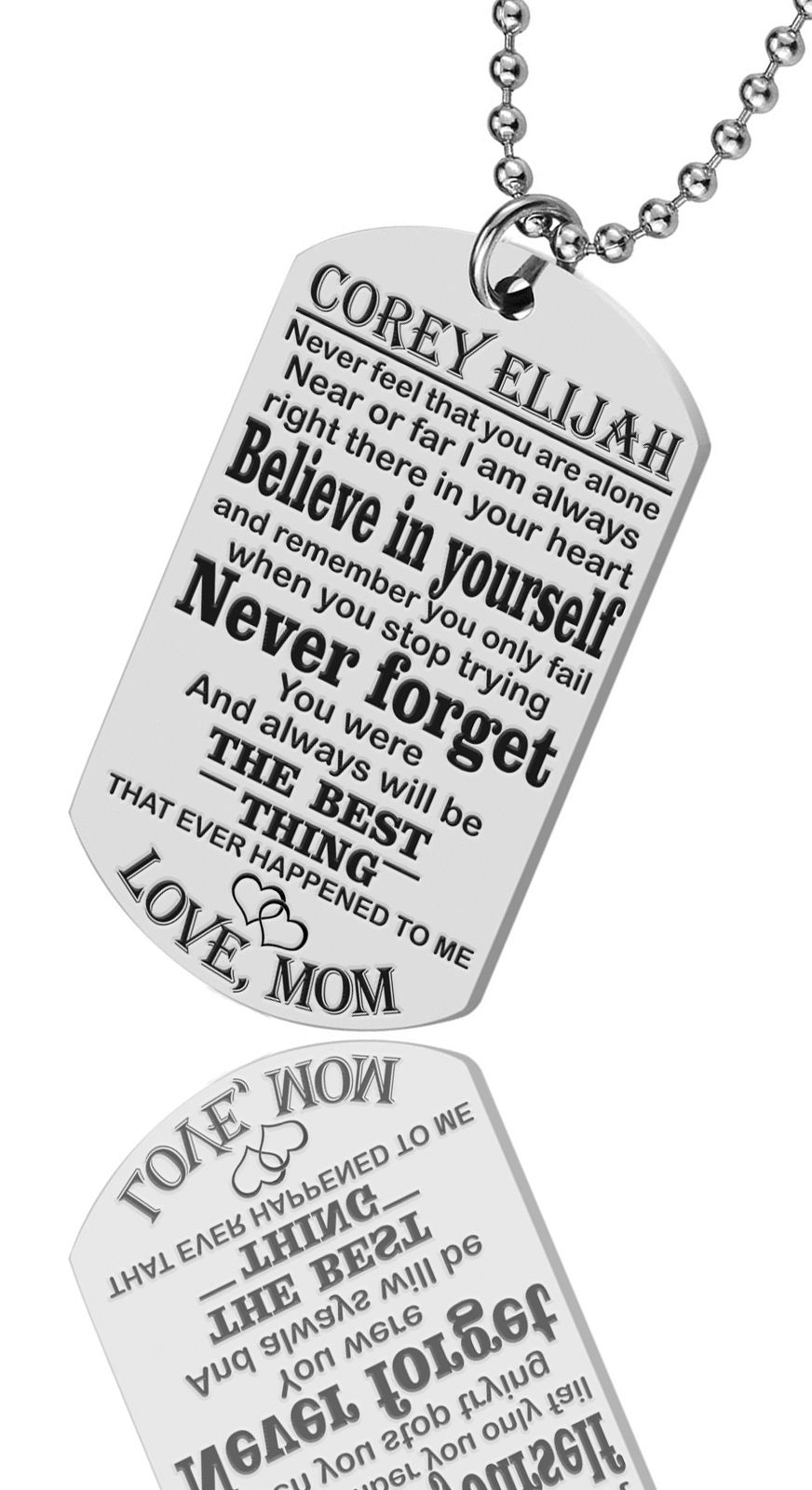 Christmas Gift Mens Army Dog Tag Son Gift From Mum Grandson Gift