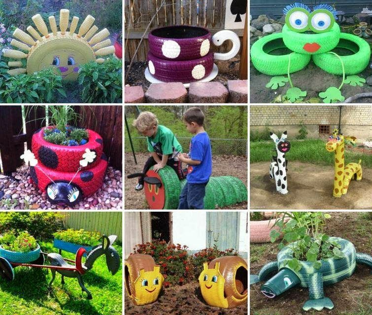 Incredible Broken Pot Ideas Recycle Your Garden: These Teacup Tyre Planters Are A Fun Recycling Project