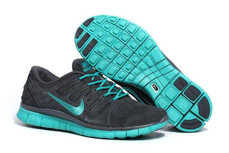 wholesale dealer fa9f2 7e9f2 Nike Free 5.0+ Leder Unisex Dunkelgrau Grün